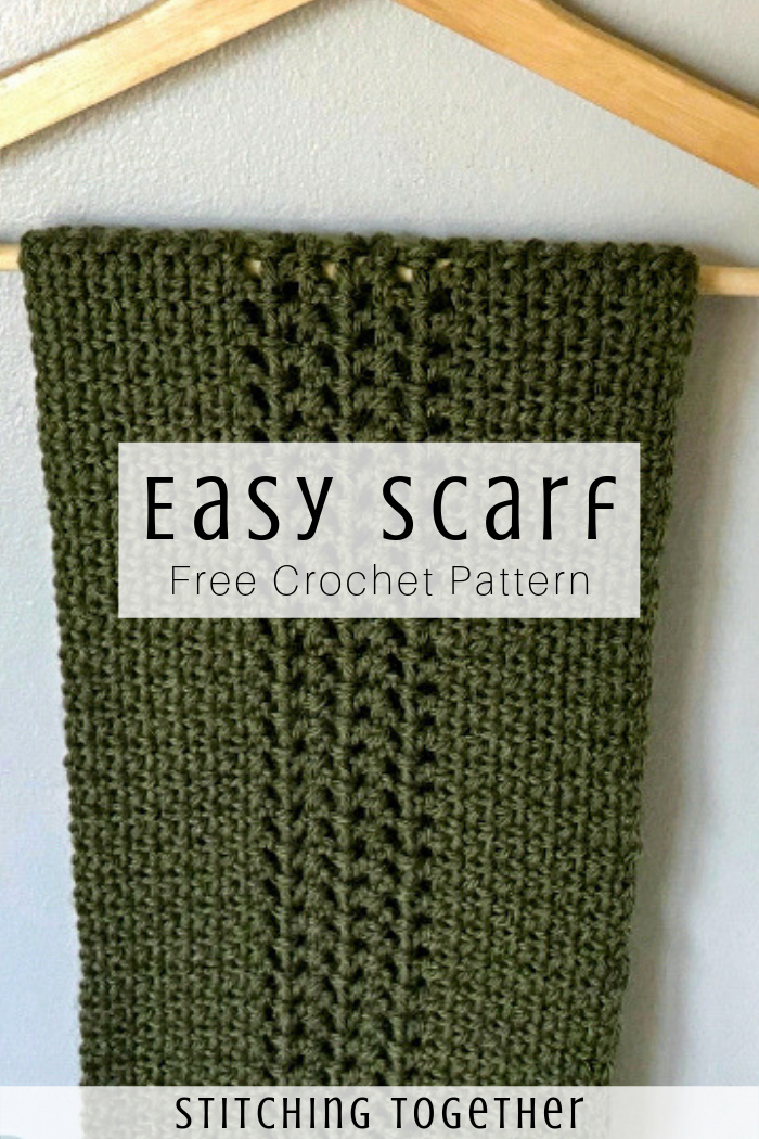 Crochet Moss Stitch Scarf | Stitching Together -   17 DIY Clothes Scarf free pattern ideas