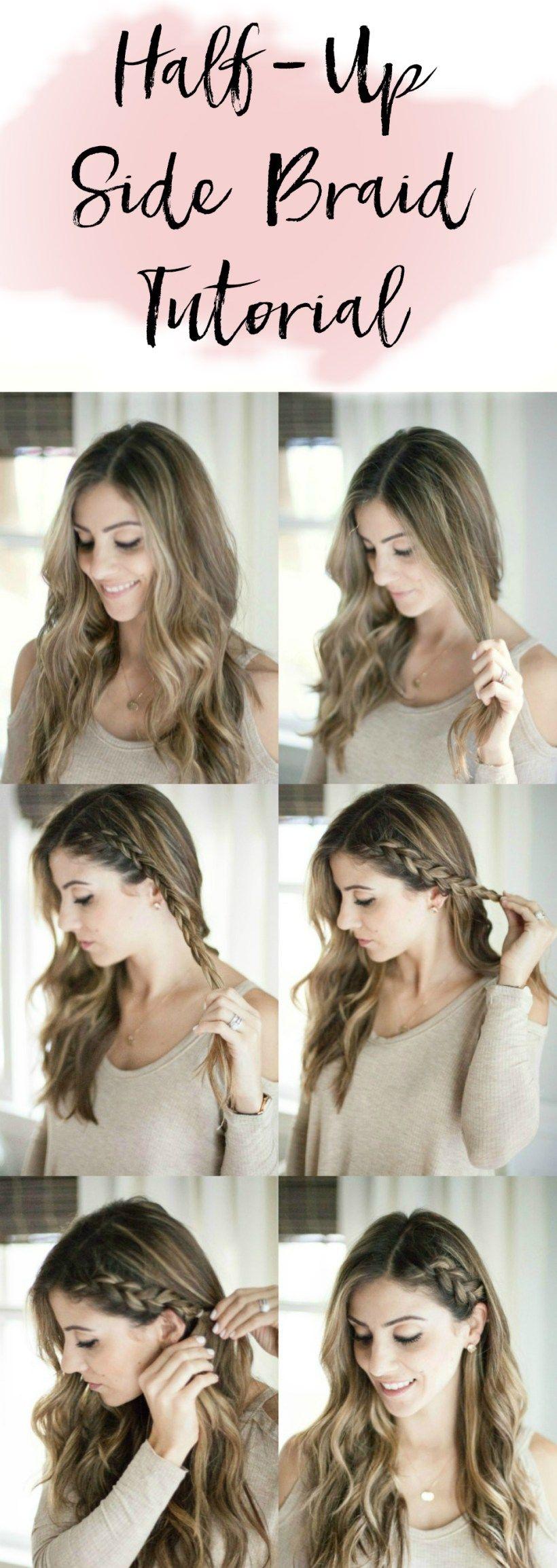 Beauty Half Up Side Braid Hair Tutorial Lauren McBride -   14 ariana grande hairstyles Tutorial ideas