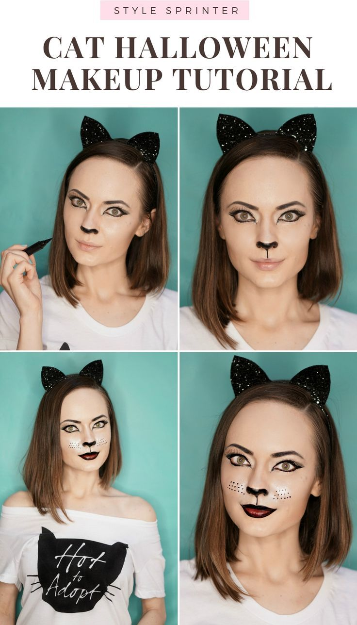 15 cat makeup Easy ideas