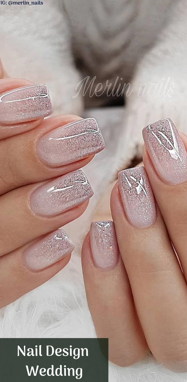 Diseño de uñas Metalic For Wedding Las uñas son una expresión de arte para muchas novias ... - sandy -   9 makeup Wedding nail art ideas