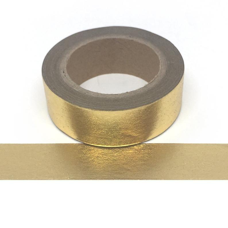 Gold Foil Washi Tape - Solid Gold Colour Foil Tape -   13 room decor Gold washi tape ideas