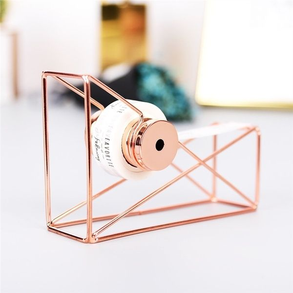 Minimalist Stainless Steel Rose Gold Creative Metal Tape Holder Tape Cutter Tape Dispenser Rack Office Stationery School Supplies | Wish -   13 room decor Gold washi tape ideas