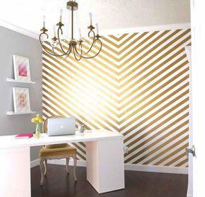 10 Wonderful Washi Tape Wall Decor Ideas That Look Amazing! -   13 room decor Gold washi tape ideas