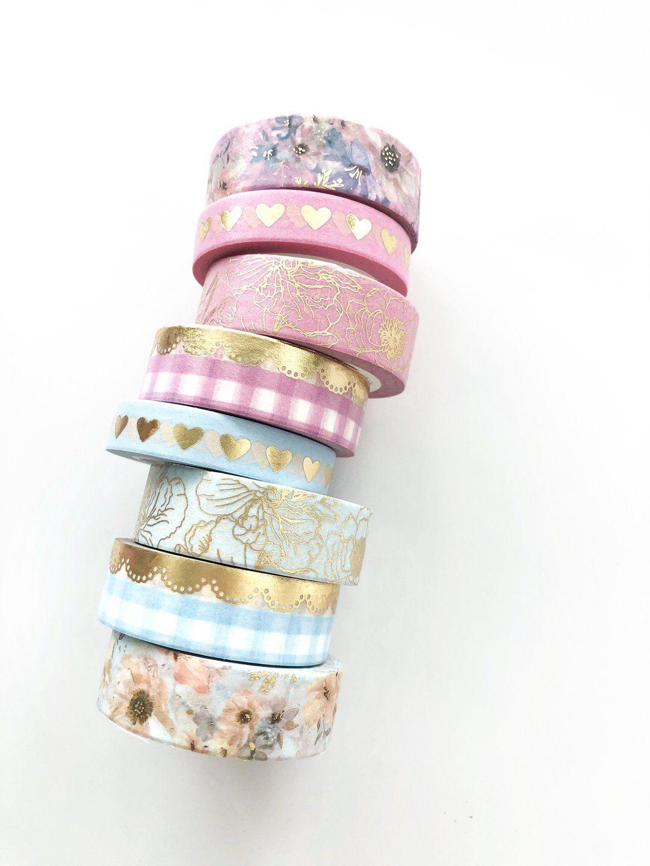 Spring Meadows Floral Washi Tape Set -   13 room decor Gold washi tape ideas