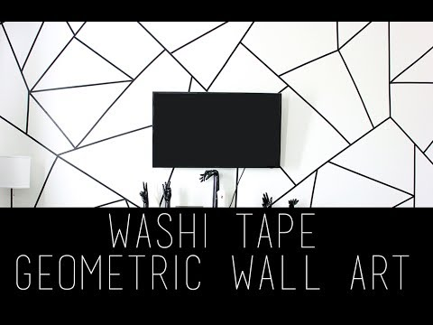 DIY Geometric Wall Art Using Washi Tape   Pinterest   Tumblr -   13 room decor Gold washi tape ideas