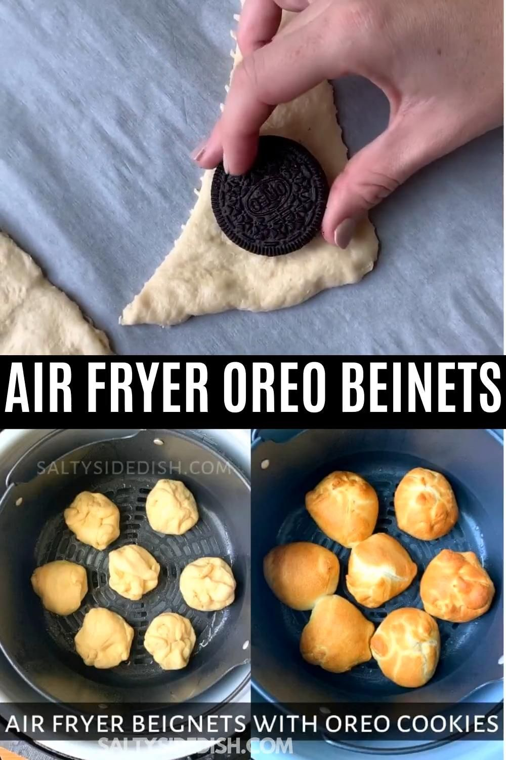 Air Fryer Beignets with Oreo Cookies - only 8 Minutes! -   18 air fryer recipes easy dessert ideas