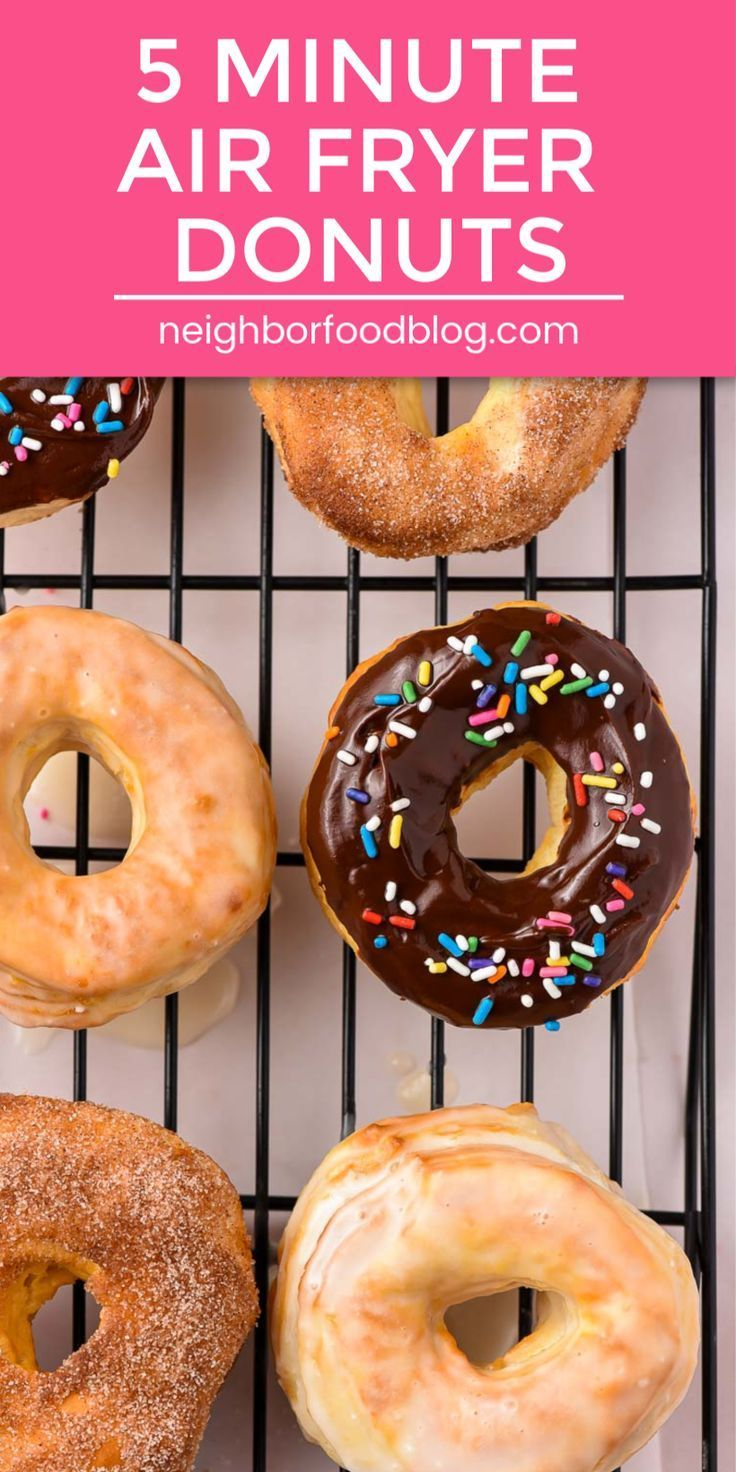 Air Fryer Donuts (in 5 minutes!) -   18 air fryer recipes easy dessert ideas